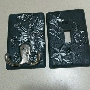 Other - Wall Light switch cover & Wall hook set